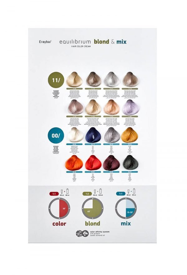 Erayba Equilibrium Color Chart Blond & Mix